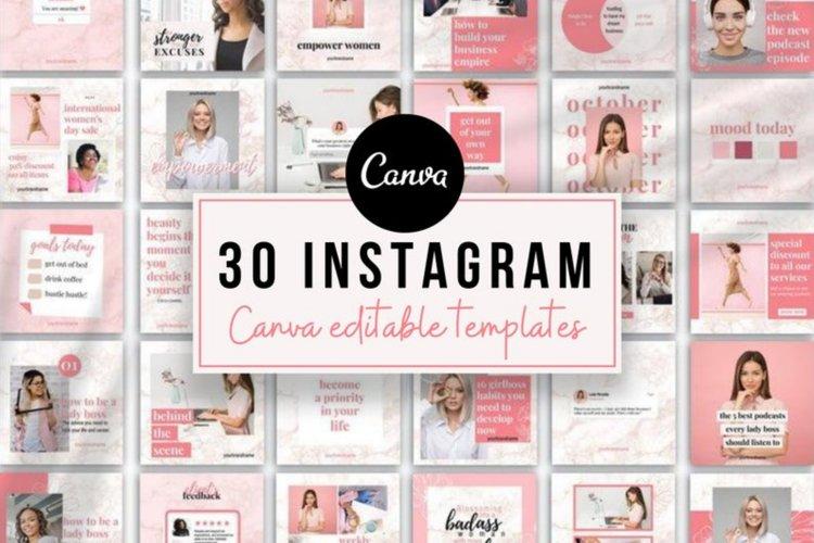 30 Instagram Post Templates, Esthetician, Beauty Instagram