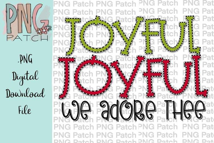 Joyful Joyful We Adore Thee Christmas Hymn Printable Design example image 1
