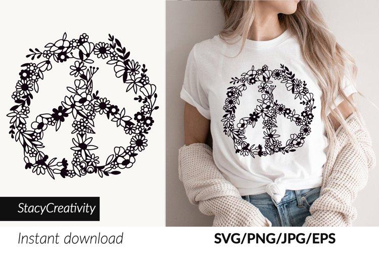 Wildflower Svg, Peace sign, Hippie svg