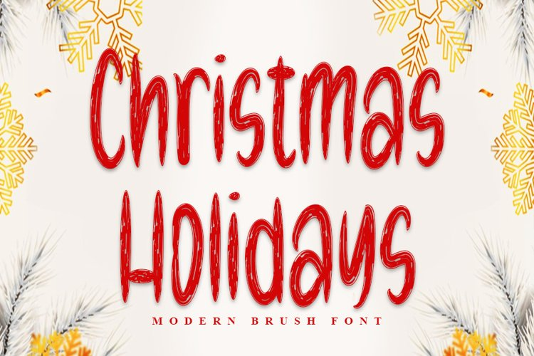 Christmas Holidays - Modern Brush Font example image 1