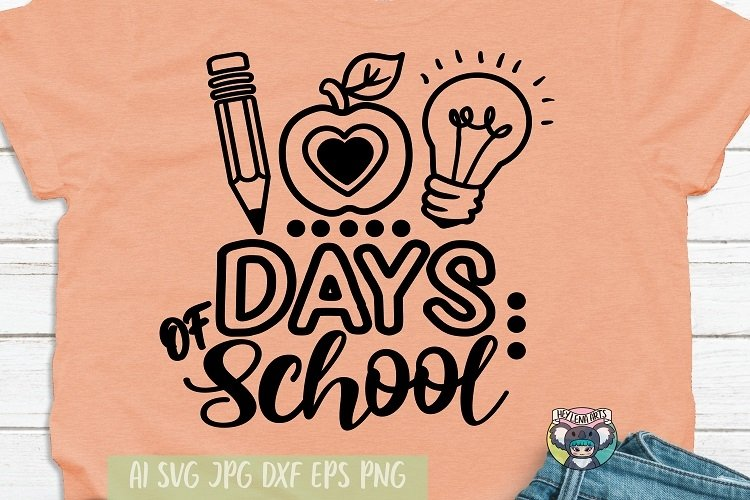 100 Days of School svg, 100 Days Brighter, Cricut Files, png
