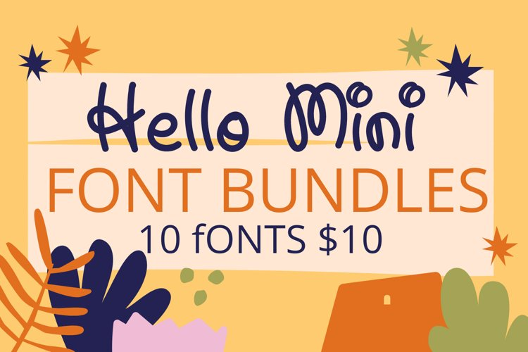 Hello Mini Crafty Font Bundles For Your Amazing Project example image 1