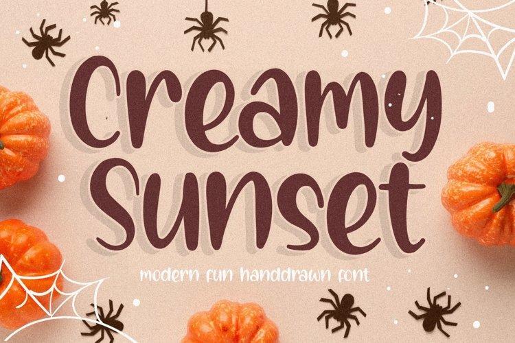 Creamy Sunset Modern Fun Handdrawn Font example image 1