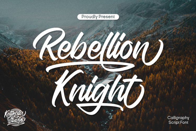 Rebellion Knight Calligraphy Script Font example image 1