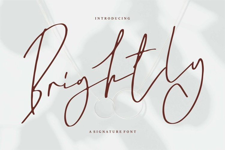 Web Font Brightly - A Signature Font example image 1