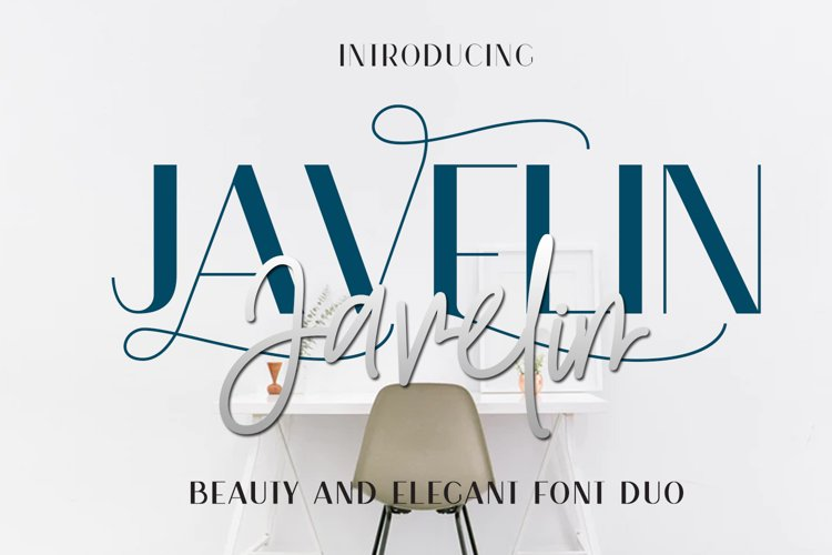 Javelin Font Duo example image 1