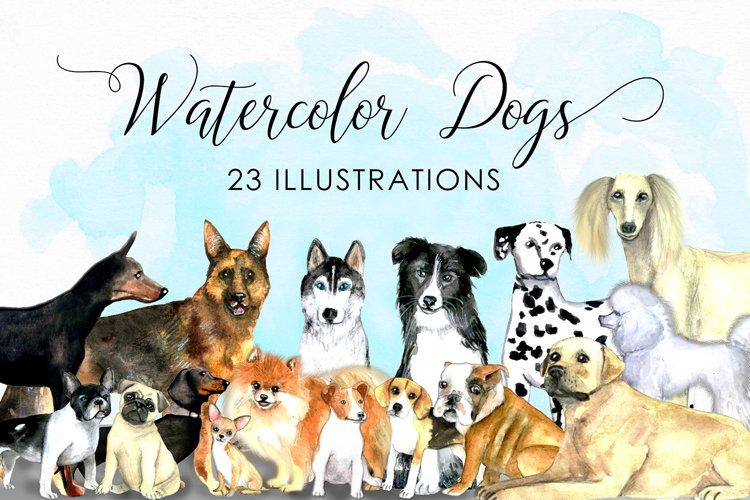Watercolor dogs - Watercolor pets