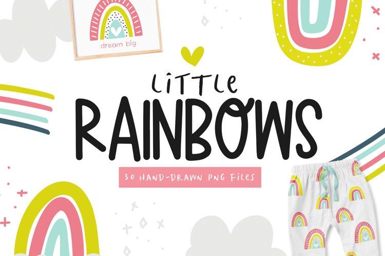 Bright Rainbows - Clip Art Collection