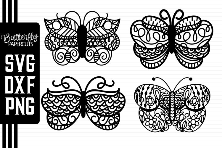 Butterfly Intricate Papercuts - Hand Drawn Butterflies example image 1