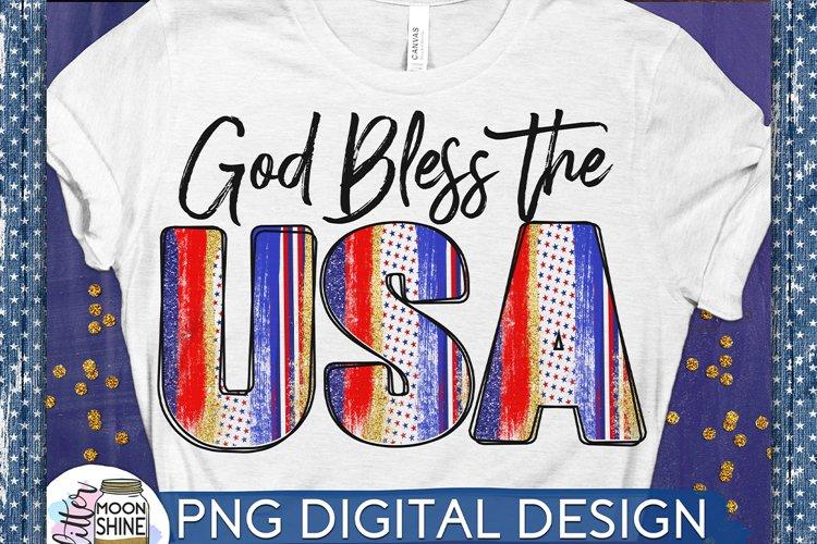 God Bless The USA PNG Sublimation Design