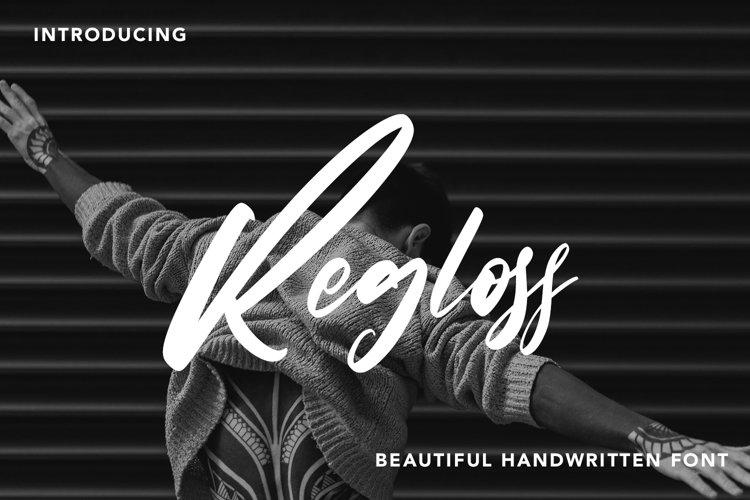 Regloss - Beautiful Handwritten Font example image 1