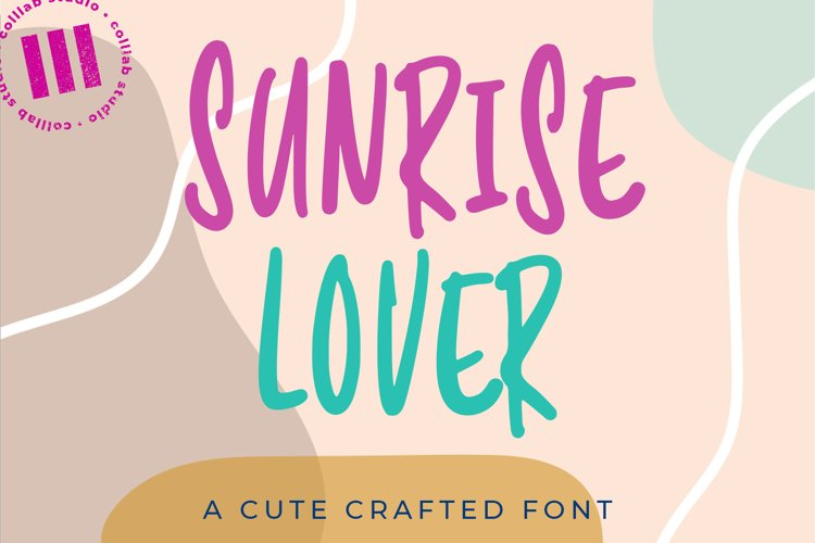 Sunrise Lover - A Cute Crafted Font example image 1