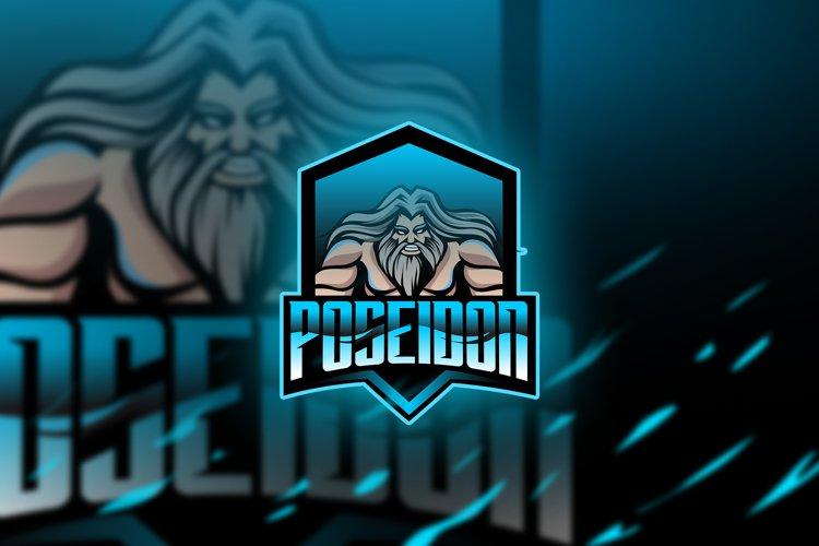 Poseidon Blue - Mascot & Esport Logo example image 1