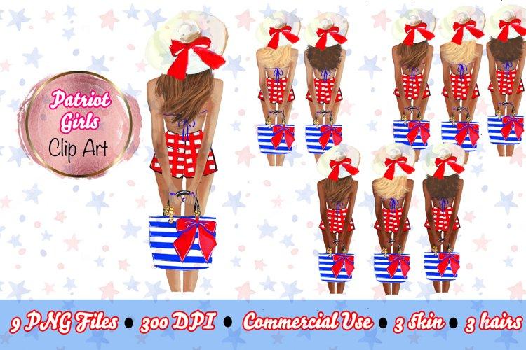 4th of Jul Fashion Clipart! Patriot Clipart, Fashion Girls