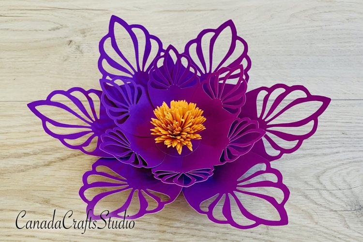 Giant Paper flower Template 61 example image 1
