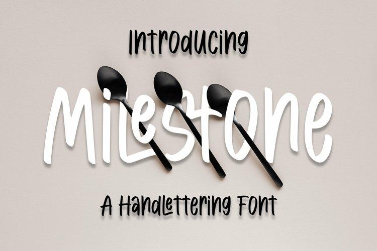 Web Font Milestone - Handlettring Font example image 1