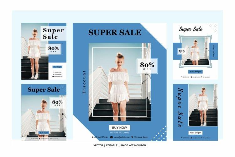 super sale media post template example image 1
