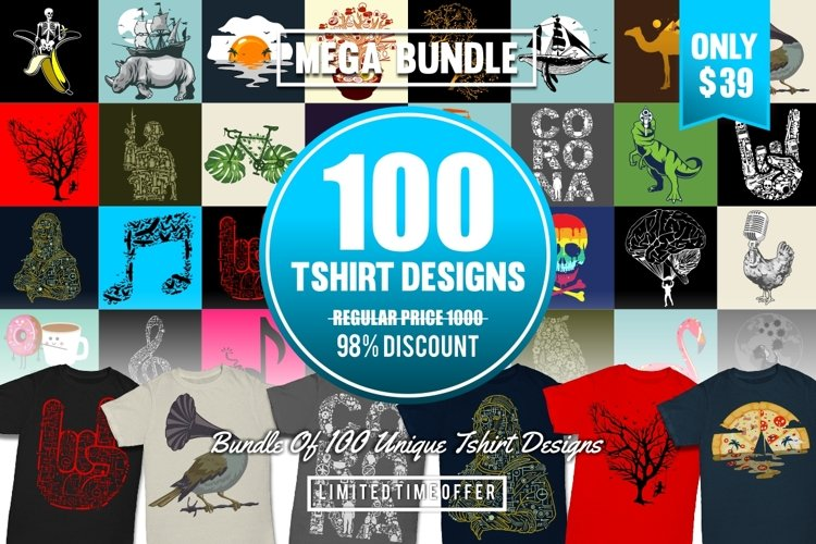 100 Tshirt Designs Bundle #3