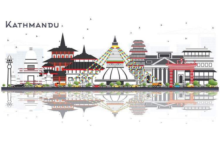 Kathmandu Nepal Skyline with Gray Buildings example image 1