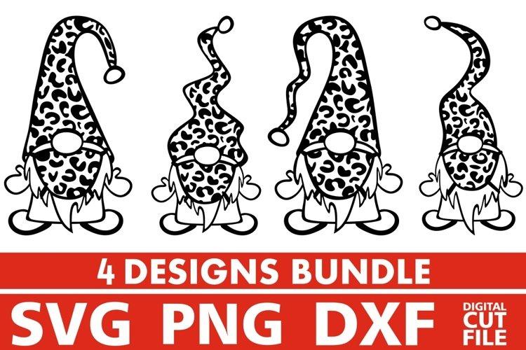 4x Gnome Designs Bundle svg, Face Mask svg, Leopard Prints example image 1