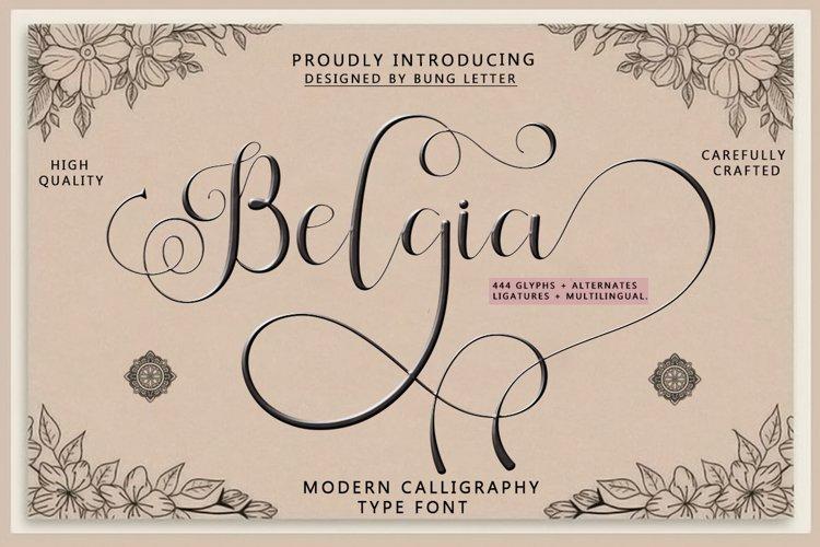 Belgia -Modern Calligraphy example image 1