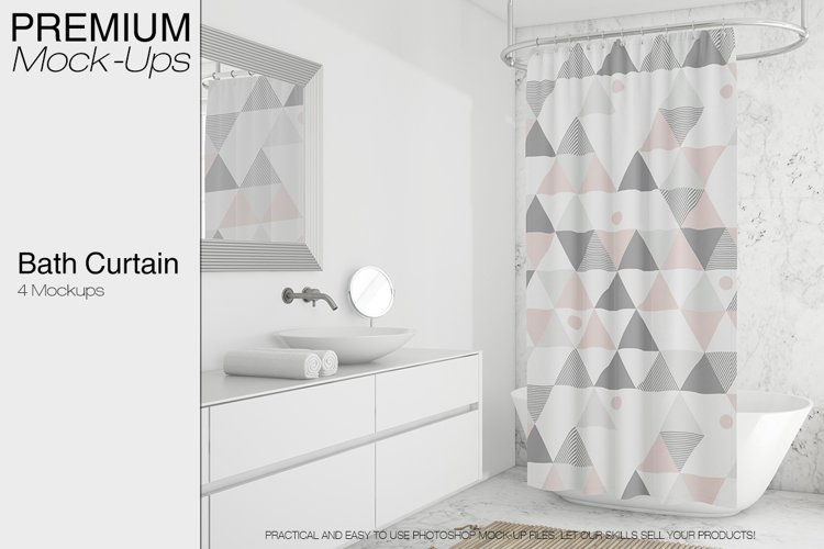 Shower Curtain Mockup Pack example image 1