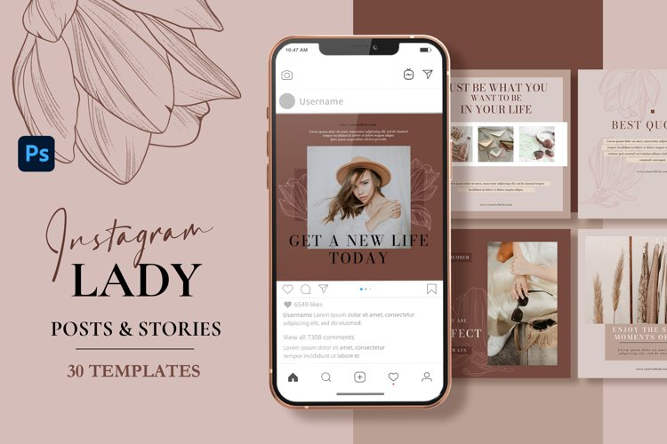 Lady Coach Instagram Templates