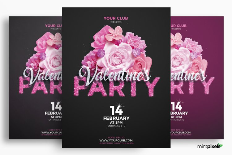 Valentine's Day Party Flyer Template example image 1