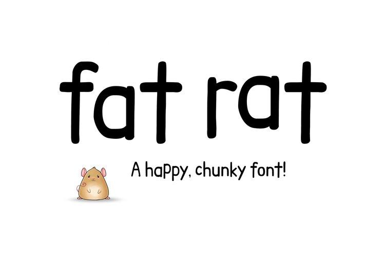 Fat Rat Font - a happy, chunky brush sans serif craft font example image 1