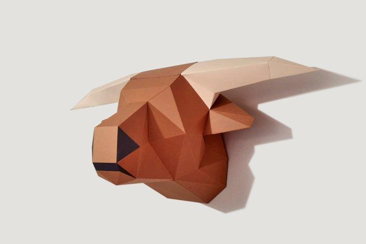 DIY Highland Cow - 3d papercraft