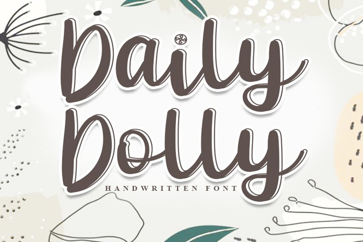 Daily Dolly- Modern Handwritten Font example image 1