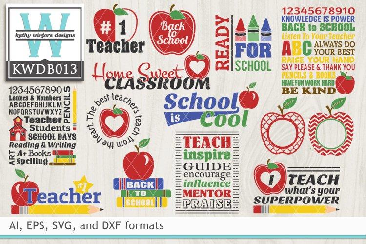 BUNDLED School Cutting Files KWDB013