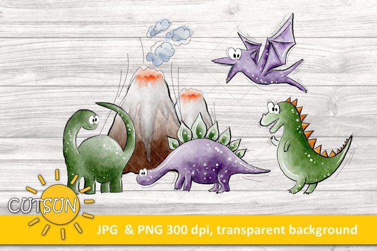 Dinos sublimation design | Cute Dinosaurs clipart