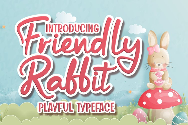 Friendly Rabbit - Playful Typeface example image 1