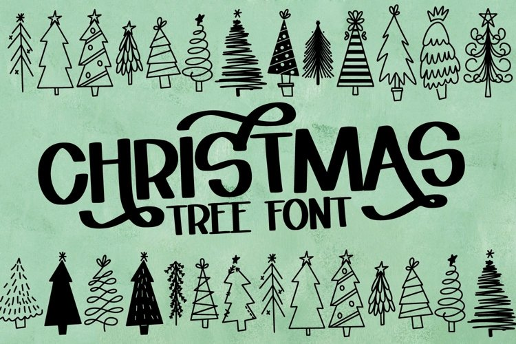 Web Font Christmas Tree Farm - A Dingbat Font example image 1