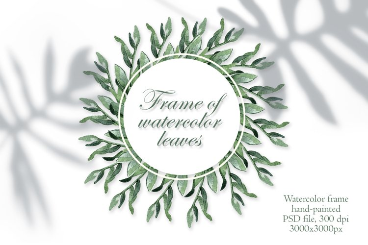 Hand Painted Deciduous Tropical Frame Watercolor Clipart