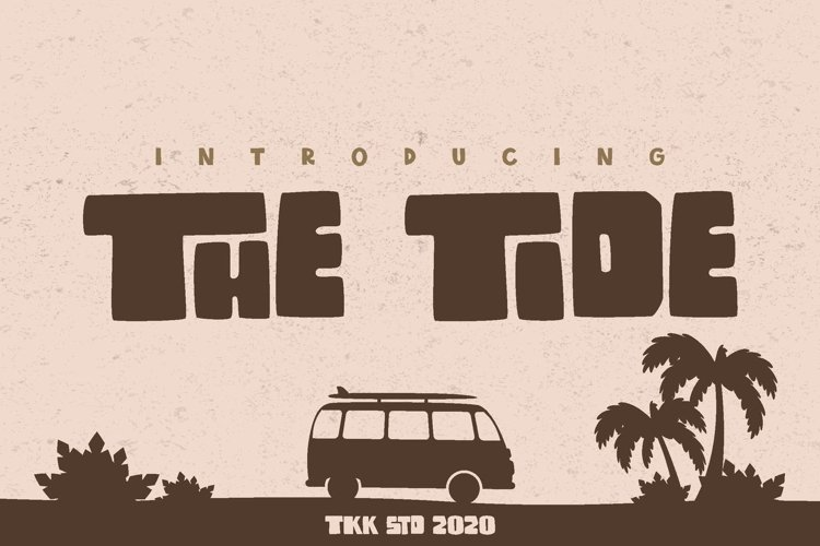 The Tide - Modern Block Font example image 1
