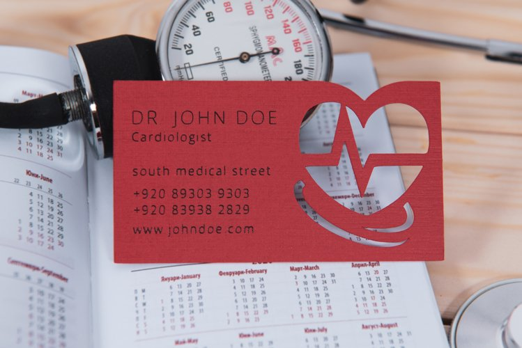 Doctor business card template cutting file example image 1