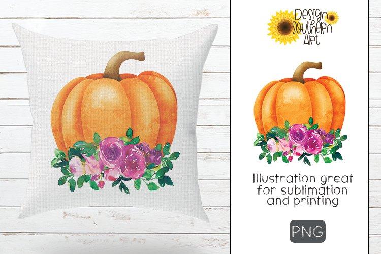 Sublimation Floral Pumpkin Design example image 1