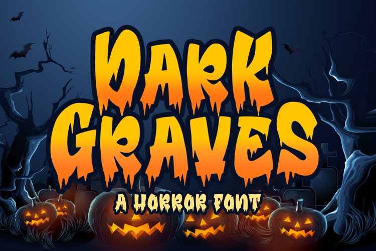 Dark Graves- a Horror Font example image 1