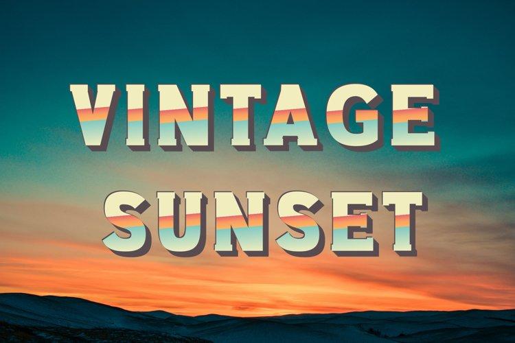 Vintage Sunset SVG Font example image 1