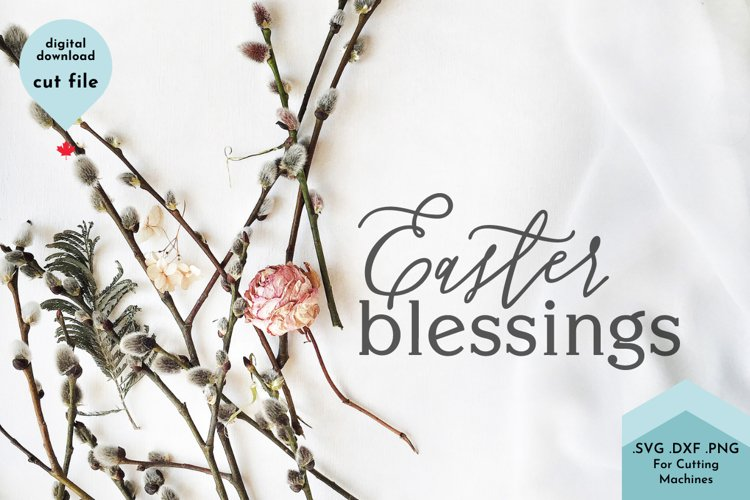 Easter Blessings SVG example 2