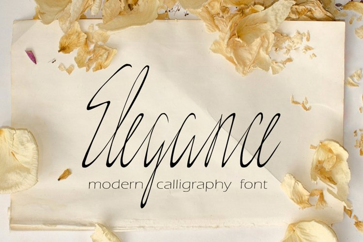 Elegance - delicate script