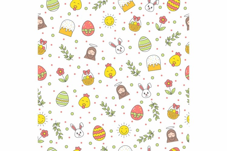 Happy Easter seamless pattern example image 1