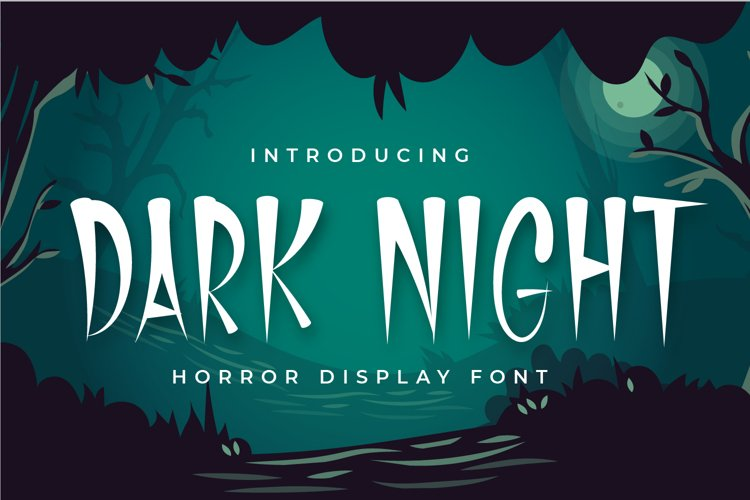Dark Night - Horror Display Font example image 1