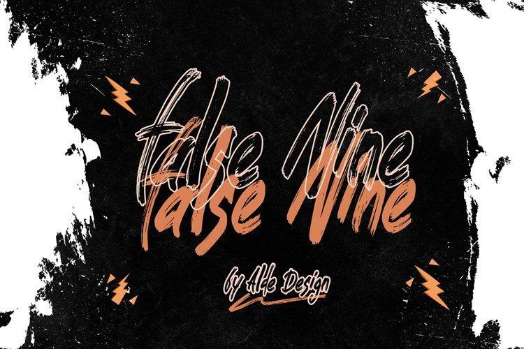 False Nine - WEB FONT example image 1
