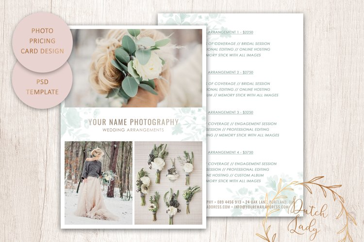 PSD Photography Price Card Template #9 example image 1