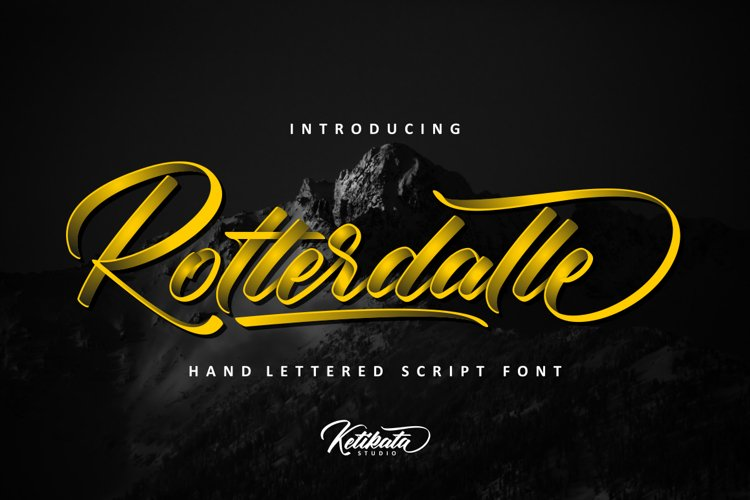 Rotterdalle Hand Lettered Script example image 1