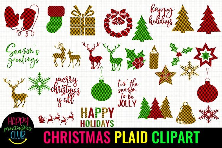 Christmas Plaid Clipart- Cute Holiday Plaids Clipart Set