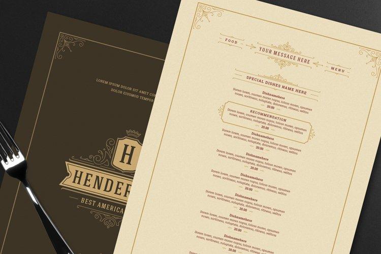 Restaurant Menu Template and Logo example image 1